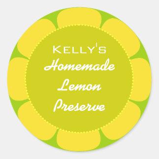 Etiqueta da conserva do limão adesivo