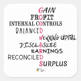 Etiqueta da contabilidade - boas palavras