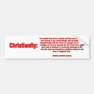 Etiqueta da cristandade adesivo para carro