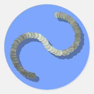 Etiqueta da escultura da moeda de dez centavos