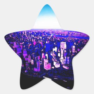 Etiqueta da estrela da Nova Iorque de Manhattan Adesito Estrela