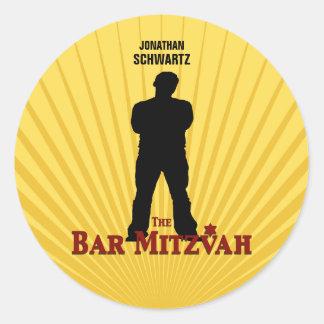 Etiqueta da estrela de cinema de Mitzvah do bar Adesivo