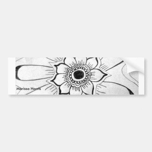 Etiqueta da flor adesivo