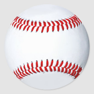 Etiqueta da foto do basebol adesivo em formato redondo