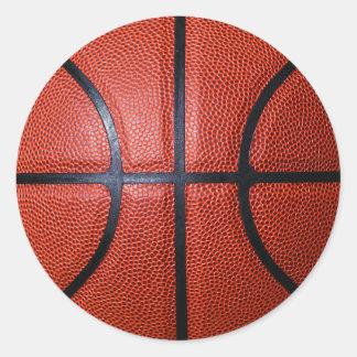 Etiqueta da foto do basquetebol adesivos em formato redondos