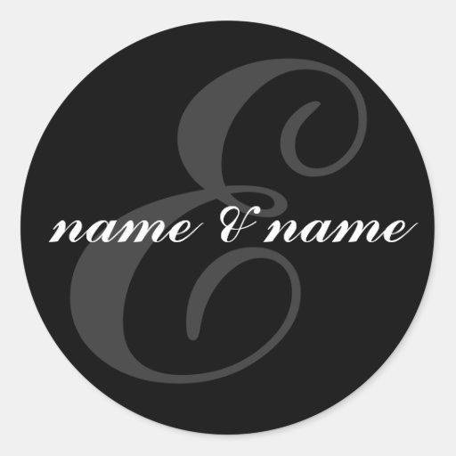Etiqueta da inicial de E Adesivos Em Formato Redondos