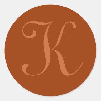 Etiqueta da inicial de K Adesivo