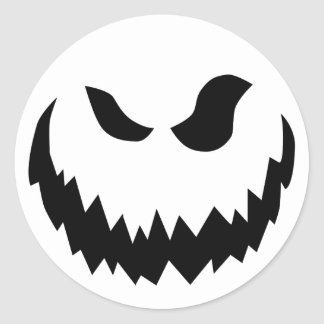 etiqueta da Jack-o-lanterna Adesivo