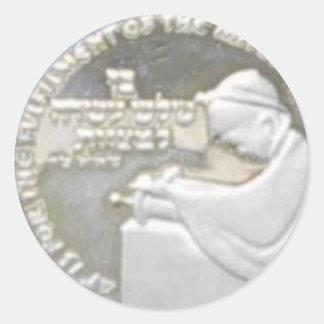 Etiqueta da moeda do menino de Mitzvah do bar Adesivo