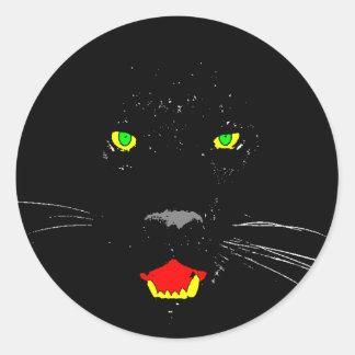 Etiqueta da pantera preta