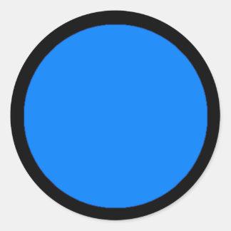 Etiqueta da parte do jogo de RAINBO - grande azul Adesivo