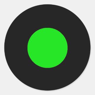 Etiqueta da parte do jogo de RAINBO - verde médio Adesivo