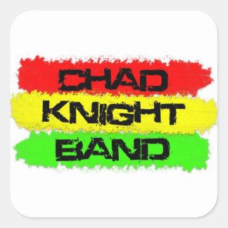 Etiqueta da reggae da banda do cavaleiro de adesivo quadrado