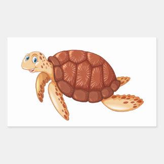 Etiqueta da tartaruga dos animais de Sealife