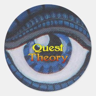 Etiqueta da teoria da procura - redonda - olho da adesivo