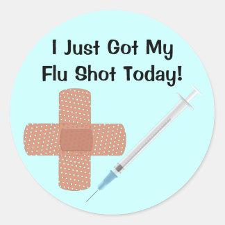 Etiqueta da vacina da gripe