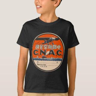 Etiqueta da viagem aérea do vintage camiseta