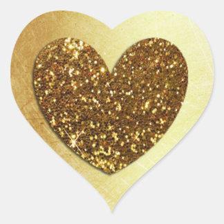Etiqueta dada forma do brilho do falso do ouro