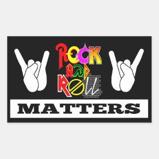 Etiqueta das matérias do rock and roll
