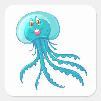 Etiqueta das medusa dos animais de Sealife