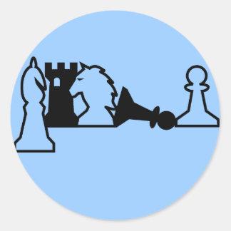Etiqueta das partes de xadrez adesivo
