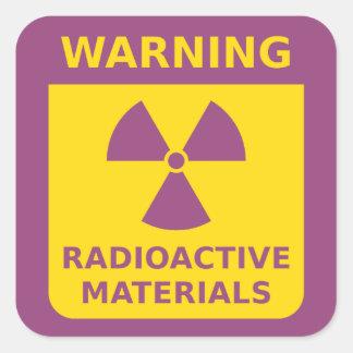 Etiqueta de advertência da radiação