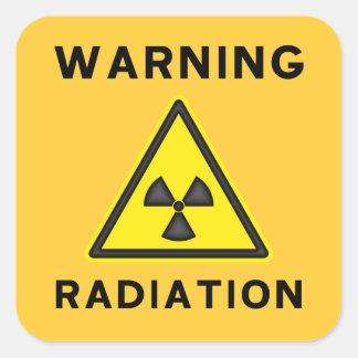 Etiqueta de advertência da radiação amarela &