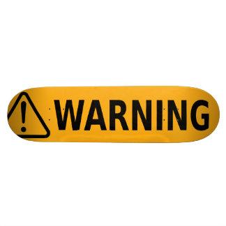 Etiqueta de advertência do skate