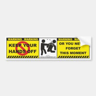 Etiqueta de advertência engraçada A8 do decalque d Adesivo Para Carro