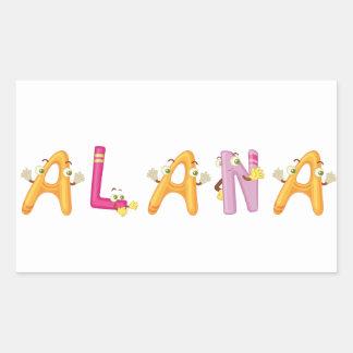 Etiqueta de Alana