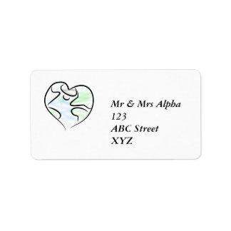 Etiqueta de Avery da terra do amor Etiqueta De Endereço