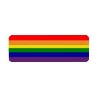 Etiqueta de Avery do arco-íris Etiqueta Endereço De Retorno