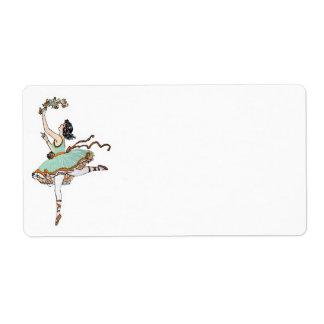 Etiqueta de Avery do dançarino de balé do vintage Etiqueta De Frete