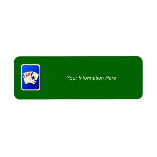 Etiqueta de Avery do endereço do remetente de quat