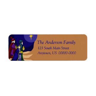 Etiqueta de Avery do feriado de três homens sábios Etiqueta Endereço De Retorno