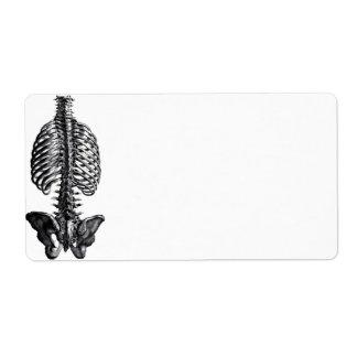 Etiqueta de Avery do osso do reforço Etiqueta De Frete