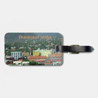 Etiqueta De Bagagem Aguarela de Oranjestad Aruba