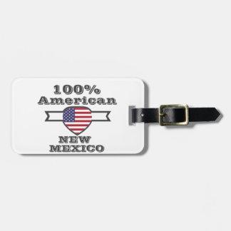 Etiqueta De Bagagem Americano de 100%, New mexico