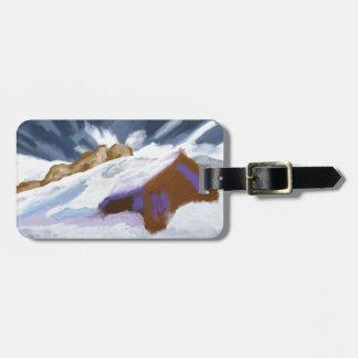 Etiqueta De Bagagem Arte das montanhas do inverno