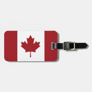 Etiqueta De Bagagem Bandeira canadense