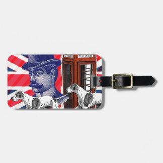 Etiqueta De Bagagem Bandeira inglesa do jaque de união da cabine de