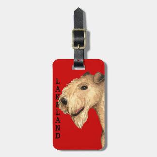 Etiqueta De Bagagem Bloco da cor de Lakeland Terrier