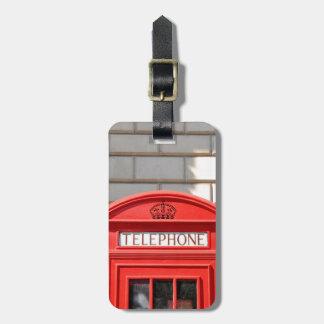 Etiqueta De Bagagem Bota vermelha do telefone em Londres