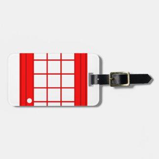 Etiqueta De Bagagem cabine de telefone