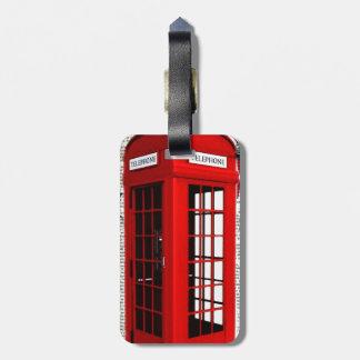 Etiqueta De Bagagem cabine de telefone vermelha da coroa do jubileu da