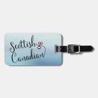 Etiqueta De Bagagem Canadense escocês Tag entrelaçado da bagagem dos