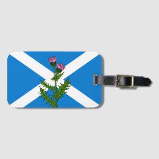Etiqueta De Bagagem Cardo escocês