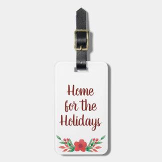 Etiqueta De Bagagem Casa do Natal para o Tag da bagagem dos feriados