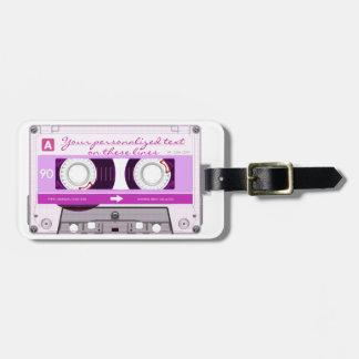 Etiqueta De Bagagem Cassete de banda magnética - rosa -