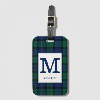 Etiqueta De Bagagem Clã MacLeod do Tartan de Skye Monogrammed